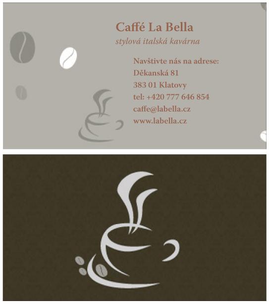 Oboustranná vizitka Espresso